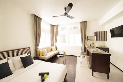 Ananda市中心的家,安静现代宽敞公寓第三