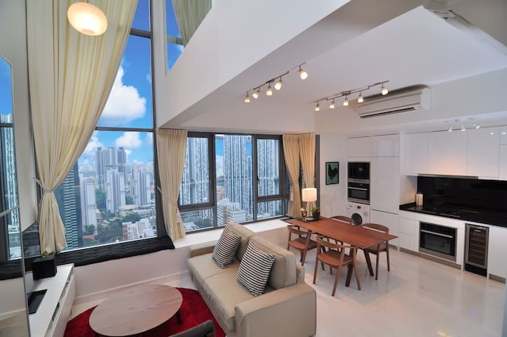 City Center SCENIC High-Floor LOFT, 1-4 Guests#AL - Singapur - Loft