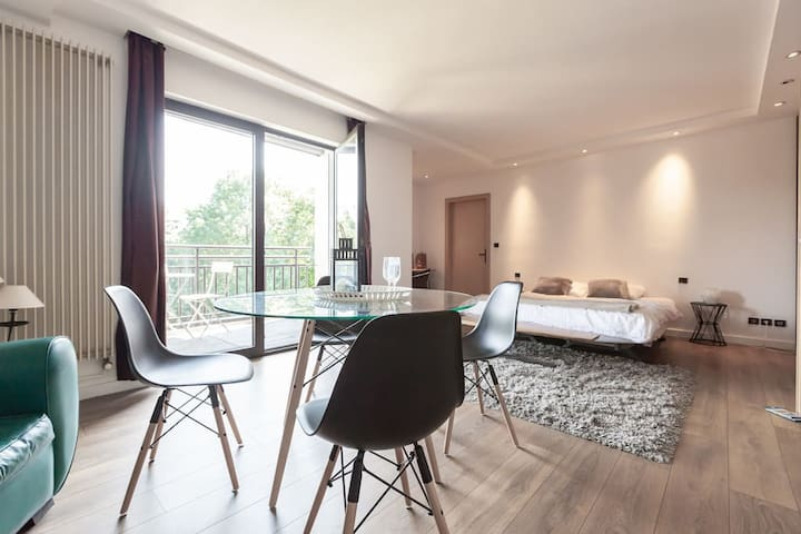 Appartement 3 ch, calme, piscine, près Strasbourg