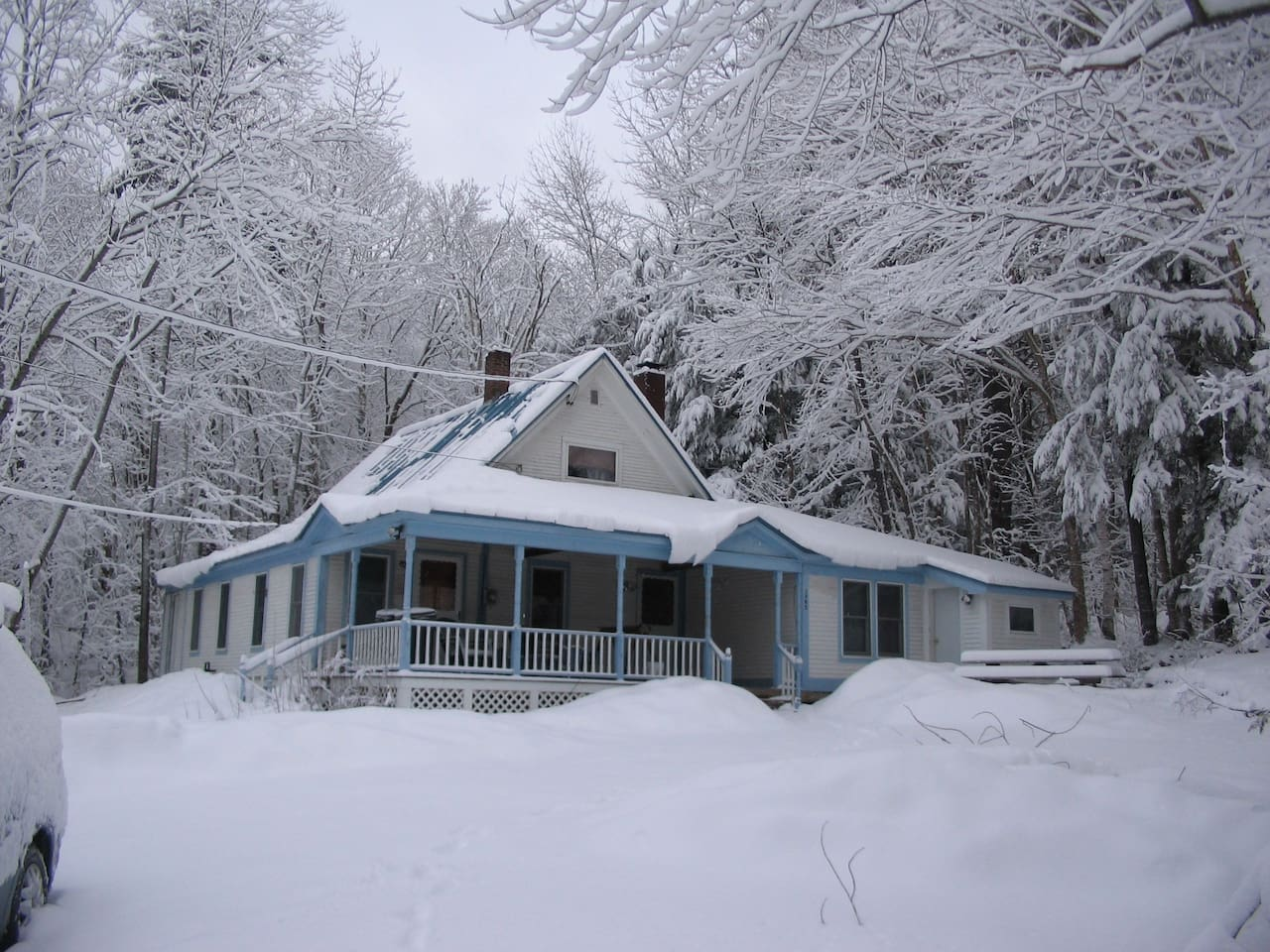 Brook House in winter