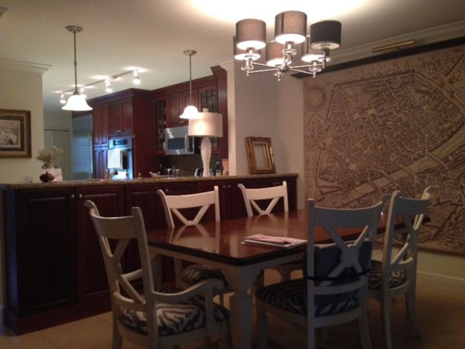 Dining room, spacious and well lit