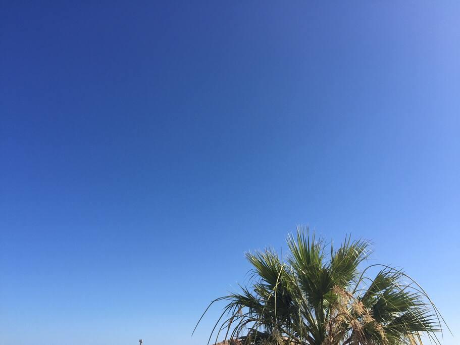 Blå himmel? 320 soldøgn i året, så på Costa Blanca kysten får du mye av dette.