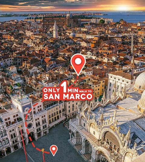 Center! Large LUX Room 1min to San Marco