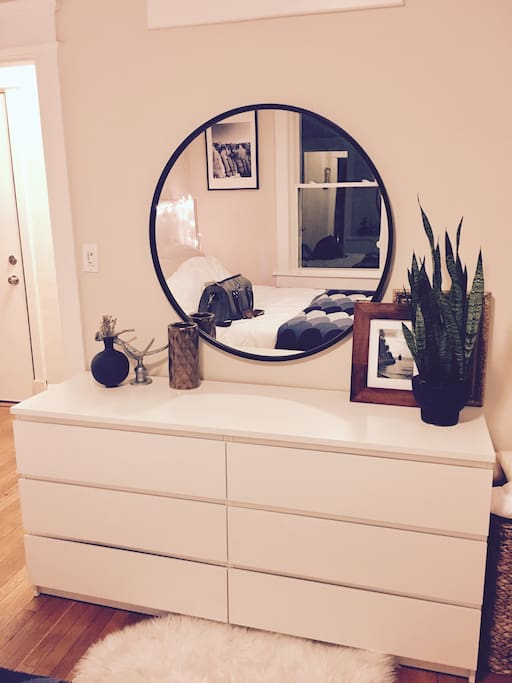 Dresser in the bedroom
