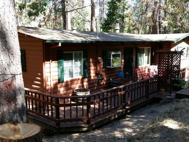 """Namaste in bed"" cabin guest room - Twain Harte - Casa"