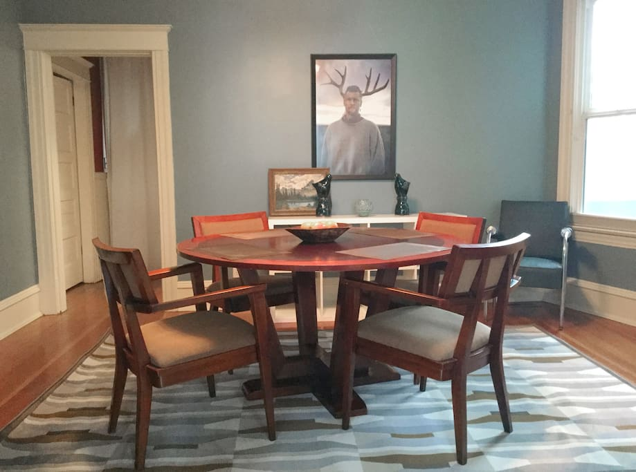 Beautiful wood dining table.