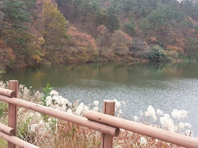 해동용궁사 근처 호수앞 테라스집 (부산한달살기 가능)
