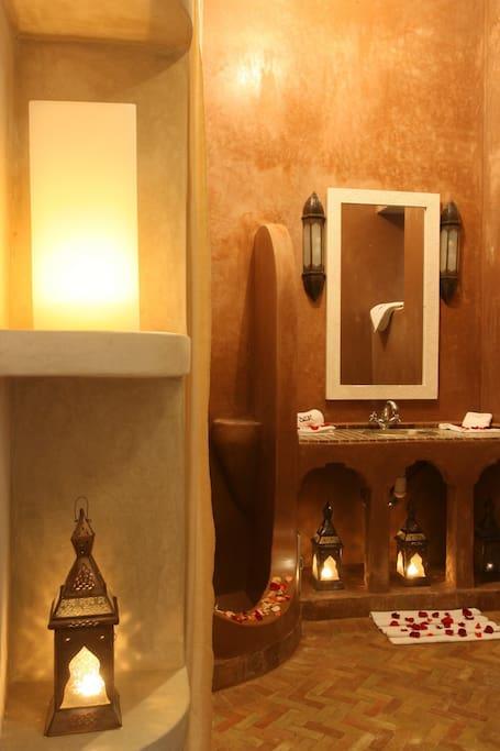 salle de bain chambre vie