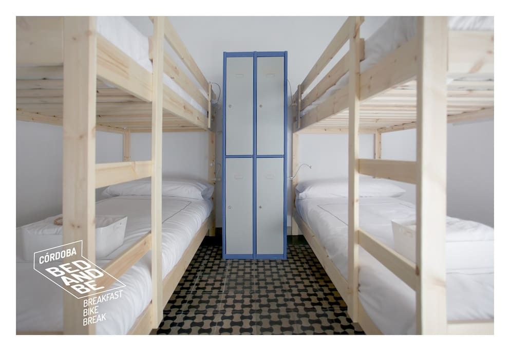 Shared Dorm x 4 with lockers