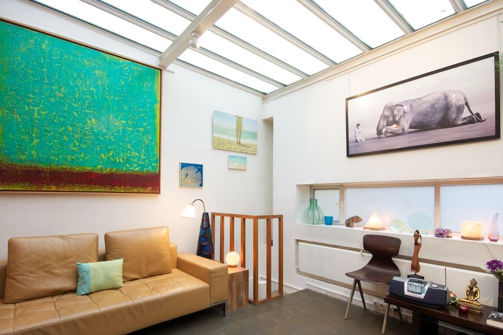 Cosy loft d 39 architecte sur jardin appartements louer for Loft jardin paris