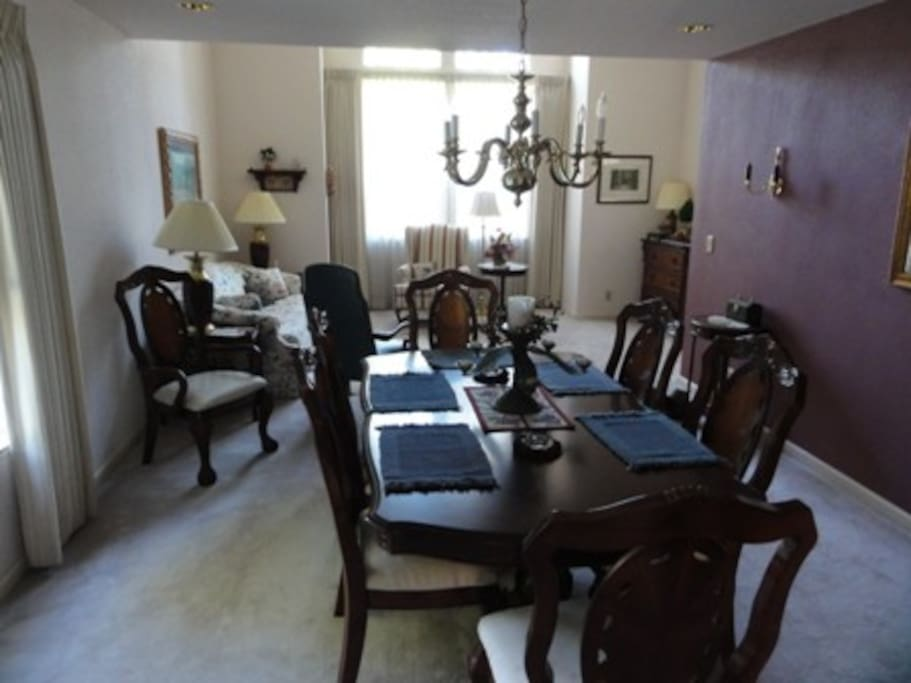 Formal dining room and living room for your use.