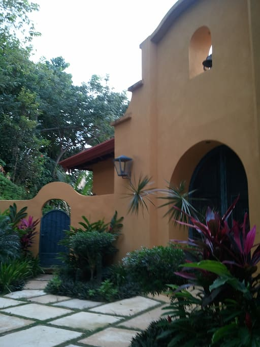 entrance to our mission style home