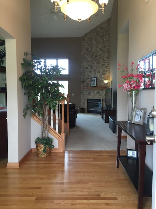 Two story Foyer and Great Room create an open feel.