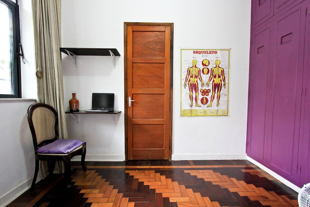 The purple wardrobe