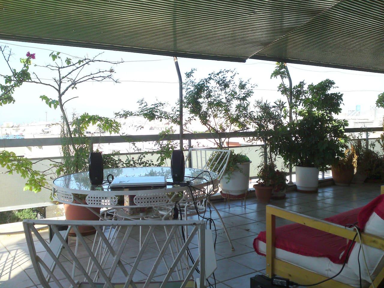 Balcony in summer