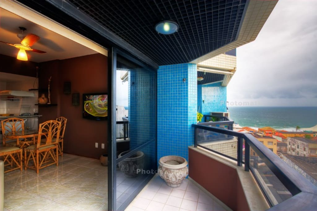 balcony w view on the ocean & pool