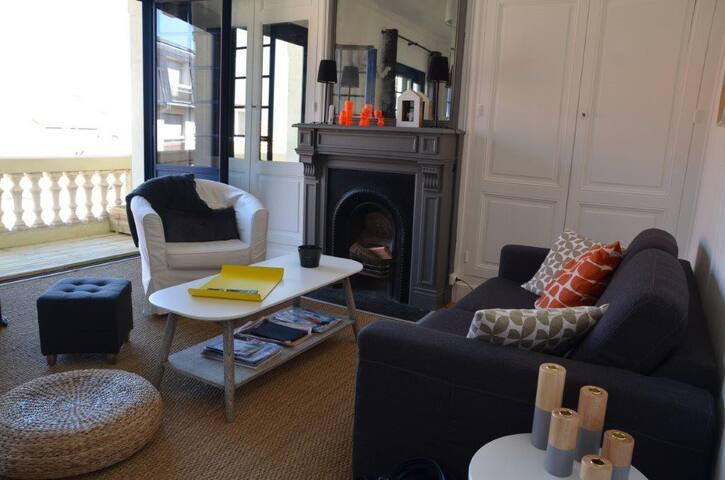 Appart. de charme scandinave  Le Touquet, centre ! - Le Touquet-Paris-Plage - Appartement