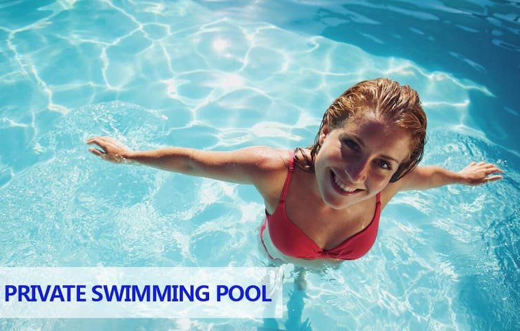 auto cleaning system swimming pool, and we have pool boy come to take care of the pool every other day