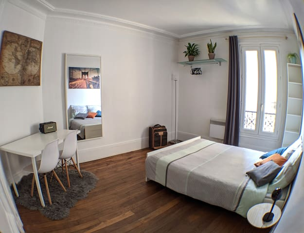Private 14 m² bedroom just 5 minutes from Paris