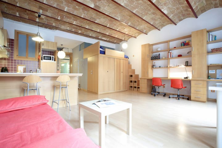 Cozy apartment  perfect situation - metro & WIFI - Barcelona - Leilighet