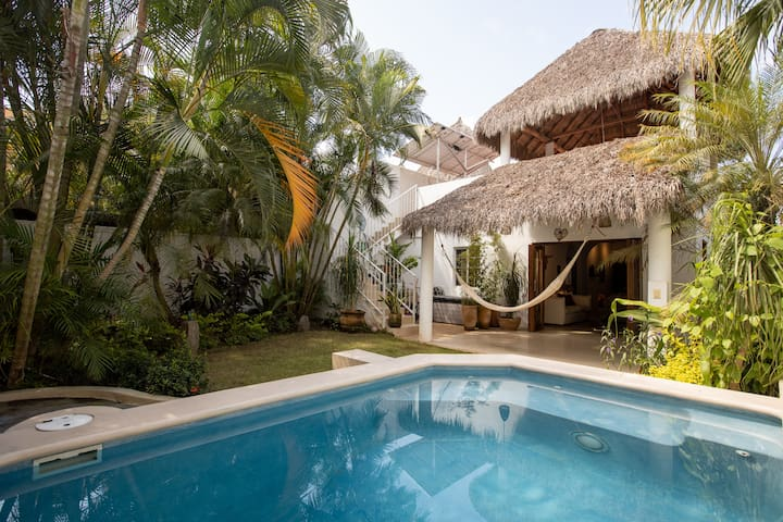 Magical beachside escape with pool and garden