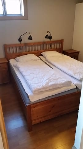 Master bed room with a double bed