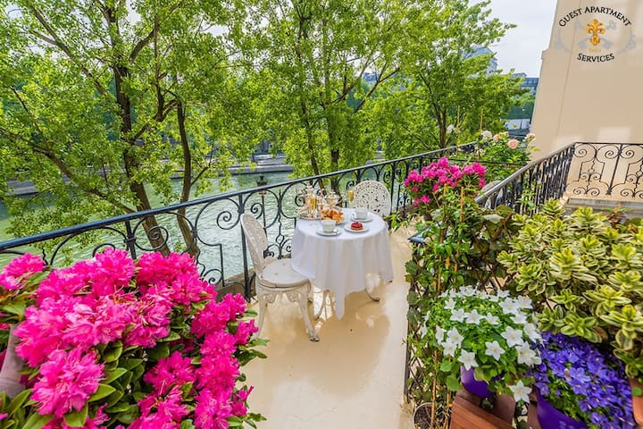 Luxury one bedroom apt on Seine River
