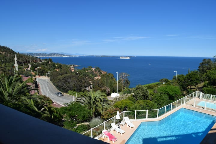 Wonderful view on Cannes bay