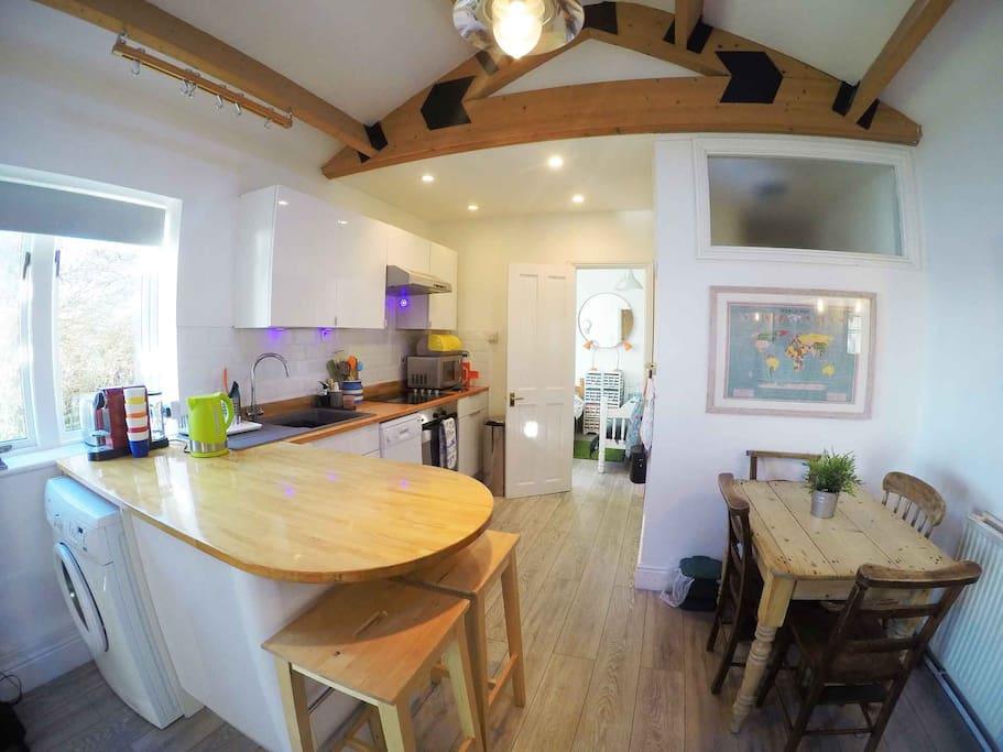 Kitchen area Boathouse -  washing machine/fully cooking facilities/dishwasher