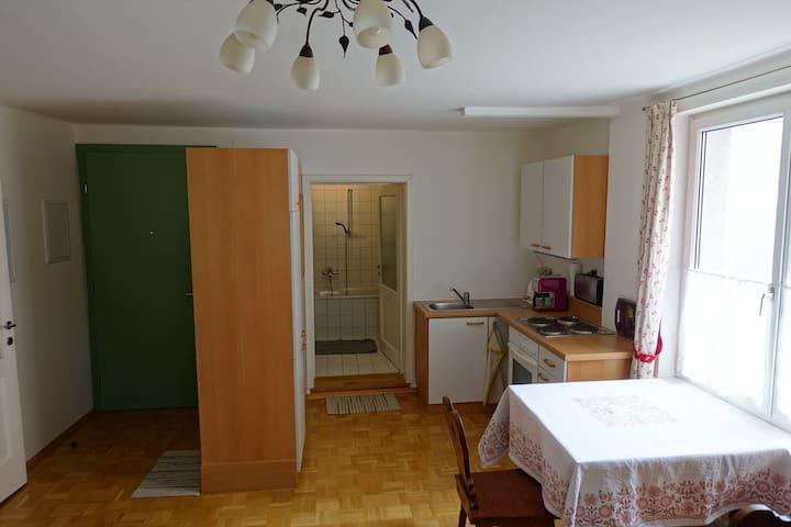 Gut ausgestattete Küche/fully equiped kitchen