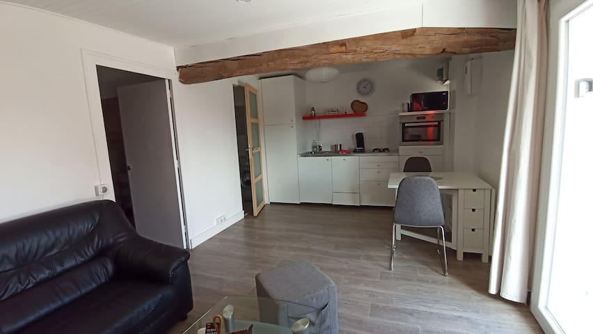 Appartement avec terrasse à la campagne