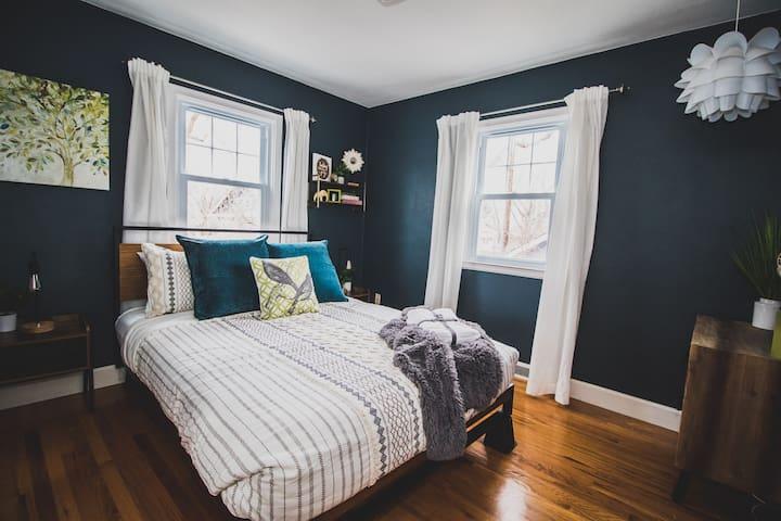 Bedroom 2 with a queen bed.