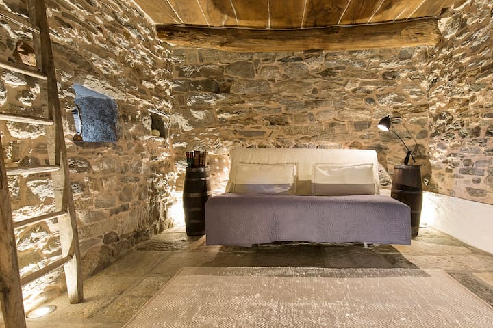 Medieval Stone Retreat with Lake Views