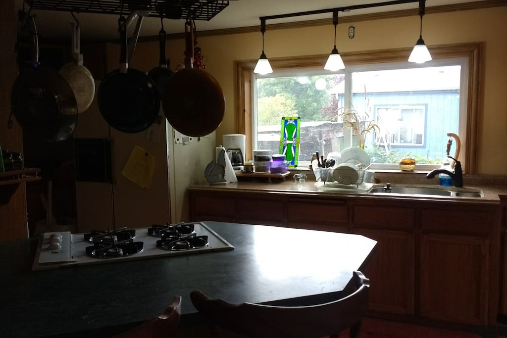 A nice large and friendly kitchen.