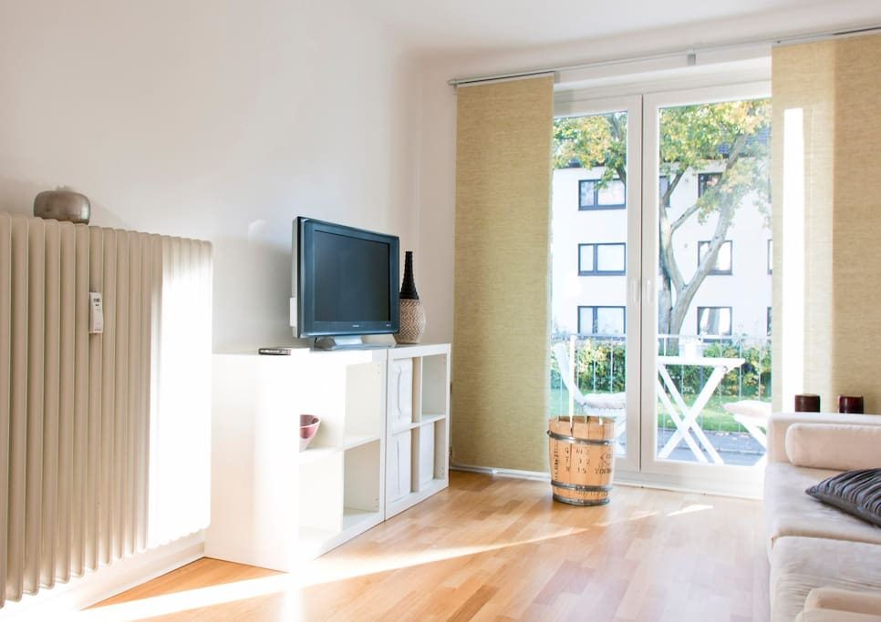 Wohnzimmer : Living room : balcony
