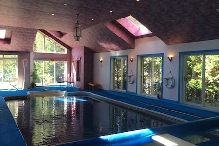 BIG Laurentian home,  with pool near Mont Olympia.