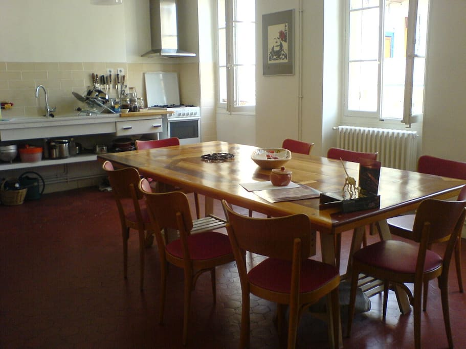 kitchen and its dinner table