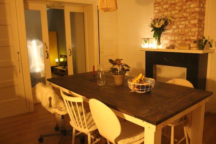 Gezellig en ruim appartement bij centrum Groningen