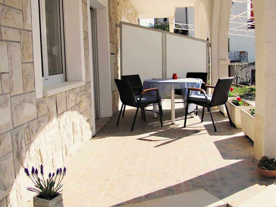 Terrace of the apartment for a pleasant stay.