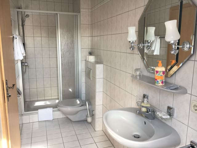 Ferienunterkunft Landshut-Altdorf, (Altdorf), Doppelzimmer mit Dusche und WC