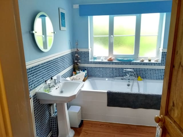 Bathroom with shower, not en suite but for guest private use only.