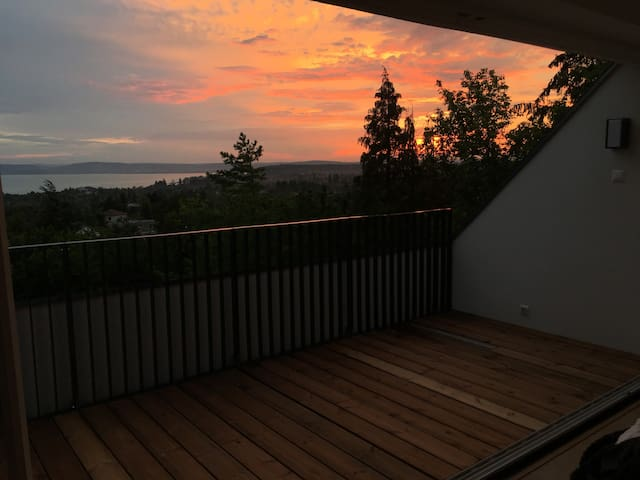 Sunset from the master bedroom.
