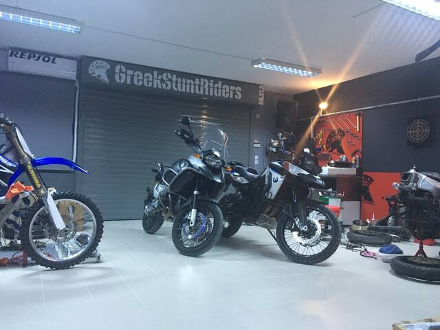GreekStuntRiders Garage a unique place to live