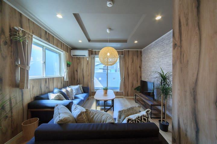 鶴C 4bedroom,wifi,5mins to Namba☆MAX14ppl,licensed