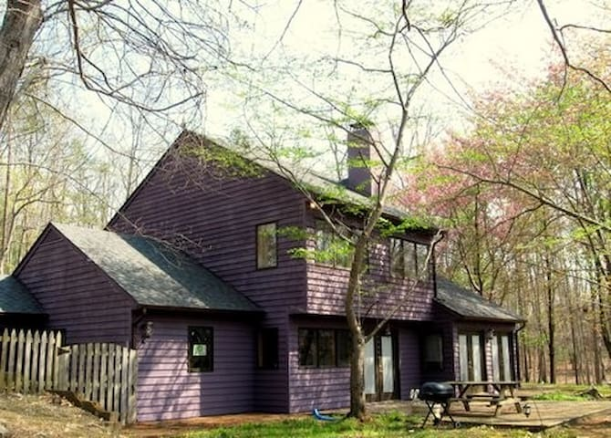 Woodrock Lodge - woodsy serene setting 3+ acres