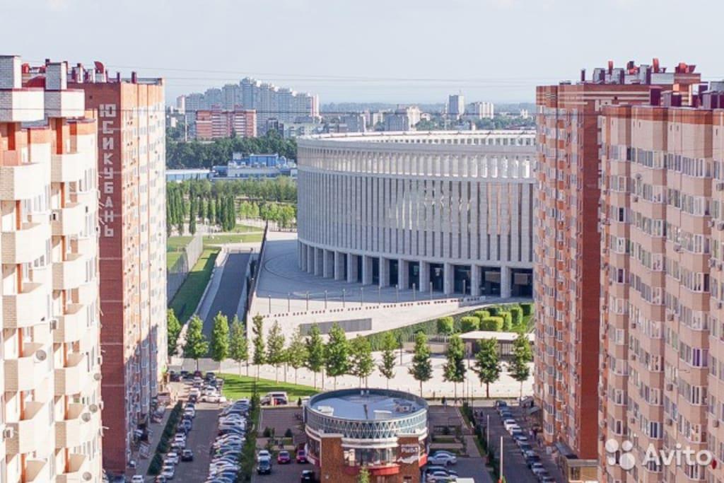 Вид на Стадион Краснодар