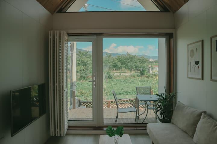 [COZYHOUSE B] 불국사 근처 감성가득한 복층 숙소, 독채