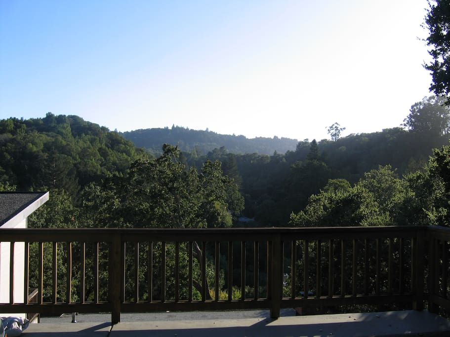 Overlooking Deer Park and the rolling hills of Marin