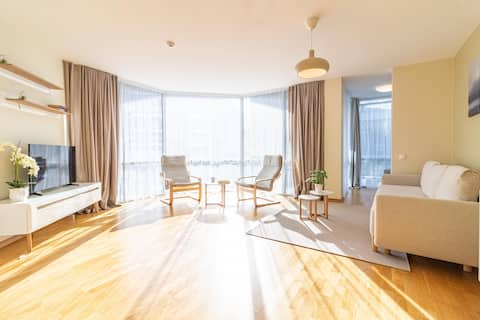 ⥣Luminous 1BR Apt, 5min Walk To Beach By Cohost⥣