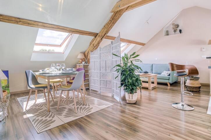 Satin - Appartement avec jardin - Giromagny